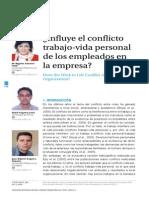 ¿Influye El Conflicto Trabajo-Vida Personal