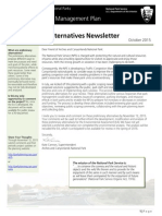 Oct 2015 Preliminary Alternatives Newsletter Traffic Congestion Management