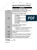 mock congress evaluation rubric