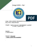 Menaxhimi i Projekteve Investive ( Hapja e Nje Filjale Te Re )