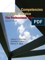 James S. Bowman, Jonathon P. West, Marcia a. Beck-Achieving Competencies in Public Service_ the Professional Edge, 2nd Edition -M.E.sharpe (2009)