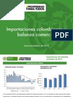2012- Importaciones y Balanza-noviembre