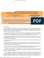 Propuesta de Ejercicios Pliométricos Para Mejorar La Fuerza Reactiva en Voleibol