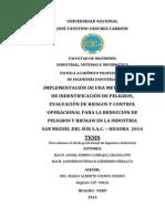 Metodología IPERC y Reducción de Peligros y Riesgos