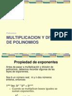 Multiplicacion y Division de Polinomios.