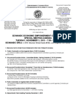 ECWANDC Economic Empowerment Special Meeting Agenda - November 3, 2015