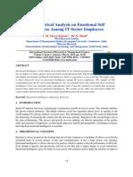 3an Empirical Analysis on Emotional Self Awareness Among It Sector Employees