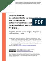 Bergesio , Liliana Garcia Vargas , A... (2008). Continuidades, Desplazamientos y Rupturas en Los..-1