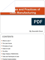 Principles & Practices of Lean Manufacturing