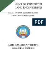 RGU M.Tech (CSE) syllabus