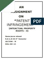 Patent Infringement 1