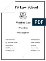 Pre Emption by Pragati MUSLIM LAW