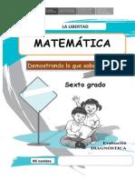 Matematica Sexto Grado examen