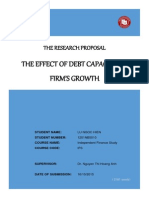The Effect of Debt Capacity on Firms Growth - Completed