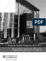 Graduate Application Pack 2010-11
