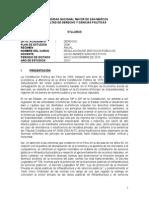 Syllabus - Regulación de Servicios Públicos (UNMSM - LSP) 2015
