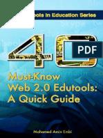 40 Must Know Web 2.0 Edutools