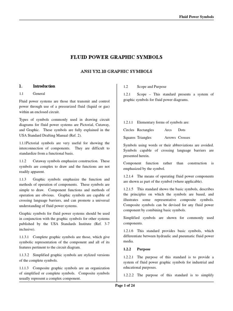Fluid Power Graphic Symbols Valve Pump