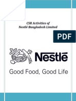 Nestle CSR Intern Report