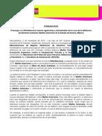 COMUNICADO Preocupa a la IM-Defensoras nuevas agresiones y allanamiento de la casa de la defensora de derechos humanos Martha Solorzano en el Estado de Sonora, México 02112015