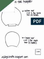 Monkey/Mouse Ears Template