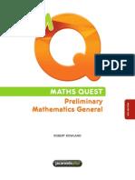 MATHS QUEST Preliminary Mathematics General (4th Edition)