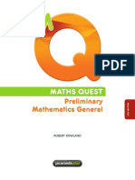 MATHS QUEST Preliminary Mathematics General (4th Edition)