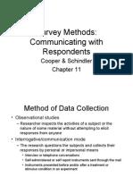 Cooper&Schindler_Chap11 Survey Methods
