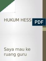 Hukum Hess Dan Energi Ikatan