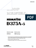 Shop Manual D375A-6R Serial Numbers 65001 and Up SEN05214-01
