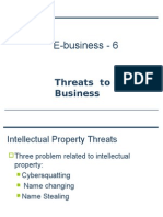 Threats to E-Business