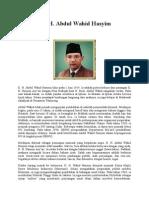 Biografi Pahlawan KH Wahid Hasyim