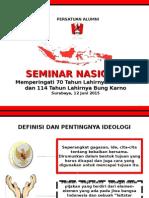 Seminar Nasional Pra Kongres Oleh Ahmad Basarah, MH