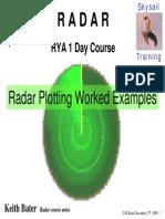 Radar Plotting Worked Examples Exercises