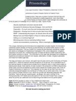 Prisonology CLE Brochure Philadelphia December 9 2015