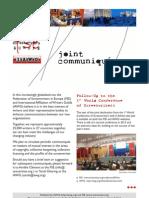 FSE/IAWG Joint Communique