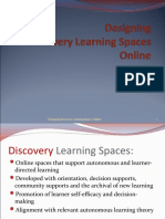 Self Discovery Learning Spaces