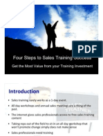 Four Steps to Sales Training Success