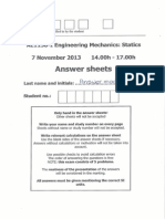 Exam Solution AE1130 7 November 2013