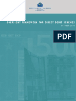 (ECB) Oversight Framework for Direct Debit, October 2010