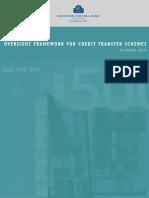(ECB) Oversight Framework for Credit Transfer, October 2010