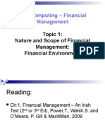 Topic 1 Financial Environment