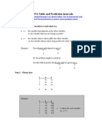 ANOVA Table and Prediction Intervals (1)