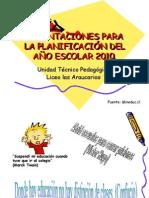 Orientaciones para la planificación 2010