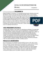 VSC November Newsletter 2015