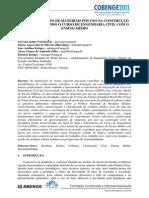 APROVEITAMENTO DE MATERIAIS PÓS USO NA CONSTRUÇÃO CIVIL - INTEGRANDO O CURSO DE ENGENHARIA CIVIL COM O ENSINO MÉDIO