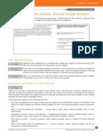 8 Multiple Choice Single PTEA Strategies