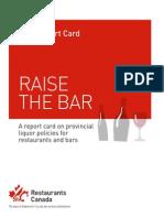 Raise the Bar Liquor Report