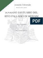 Costituzione Rito Palladio