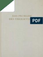 (Wege Der Forschung_ Bd. 8) Hans Joachim Störig (Hg.)-Das Problem Des Übersetzens-Wissenschaftliche Buchgesellschaft (1969)